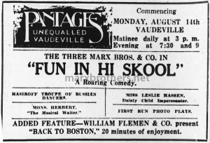 Mons Herbert ad with the Marx Bros (8-14-11)