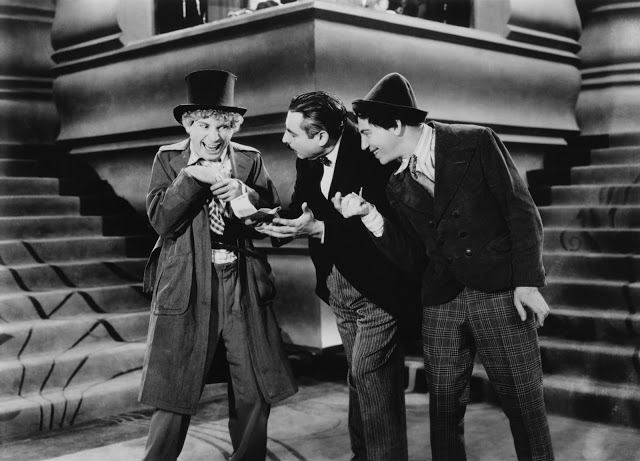 "The Marx Brothers in ""Animal Crackers,"" screening October 27th at the Egyptian Theatre"