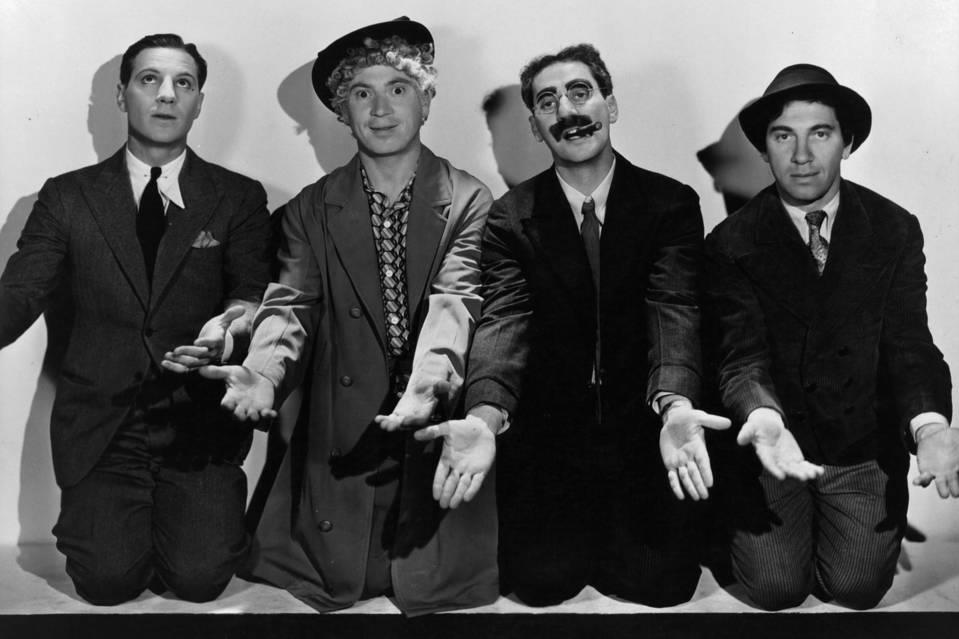 Zeppo, Harpo, Groucho and Chico, ca. 1930, the year 'Animal Crackers' was released. PHOTO: GETTY IMAGES