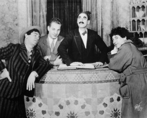 From their successful run on Broadway, the Four Marx Brothers (from left) Chico, Zeppo, Groucho and Harpo Marx. (Photo courtesy Robert Bader)