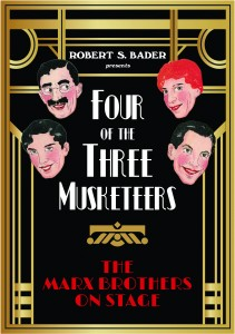 The new publication and scholarly treatise on The Marx Brothers by Robert Bader. (Cover by Northwestern University Press)